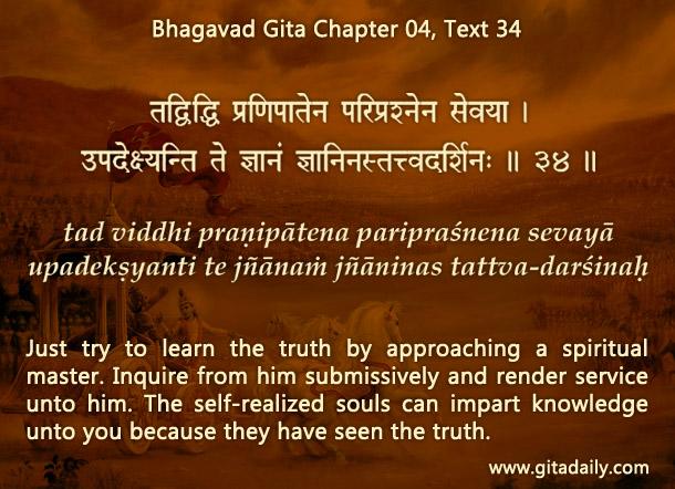 Bhagavad Gita Chapter 04 Text 34