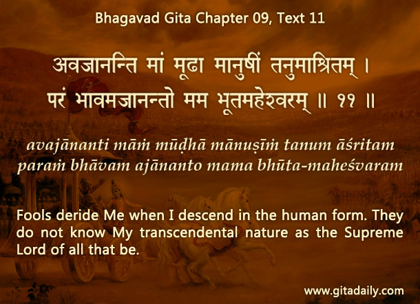 Bhagavad Gita Chapter 09 Text 11